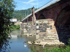 Römische Pfeiler der Römerbrücke in Trier